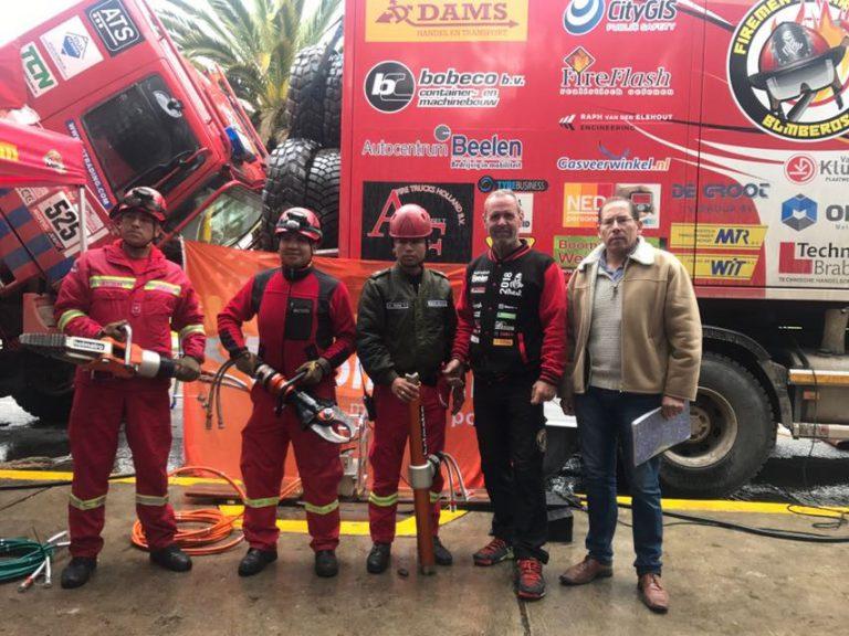 Dakar-rally Dutch Firemen Team voorbij, maar avontuur nog niet