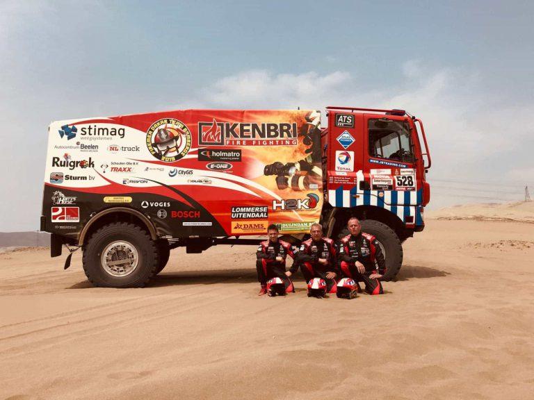 Na 10 loodzware etappes is de Finish bereikt door het Firemen Dakarteam!