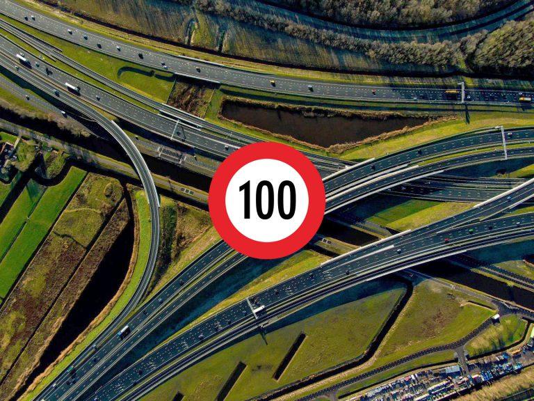 Maximum snelheid overdag naar 100 km
